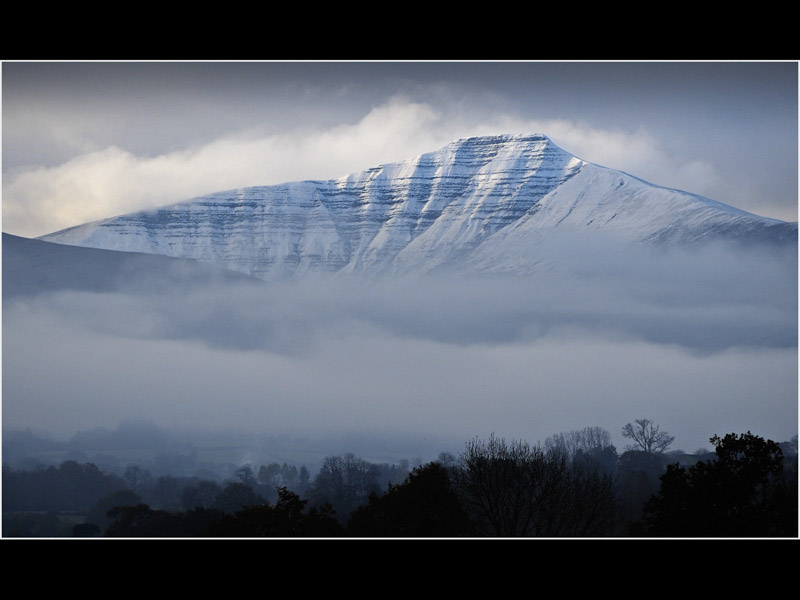 PEN-Y-FAN DUSTED IN SNOW by Claire Williams