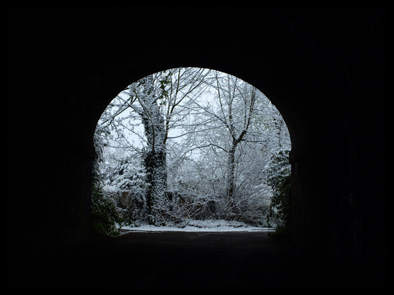 TAPLOW TUNNEL IN WINTER by John Sugg