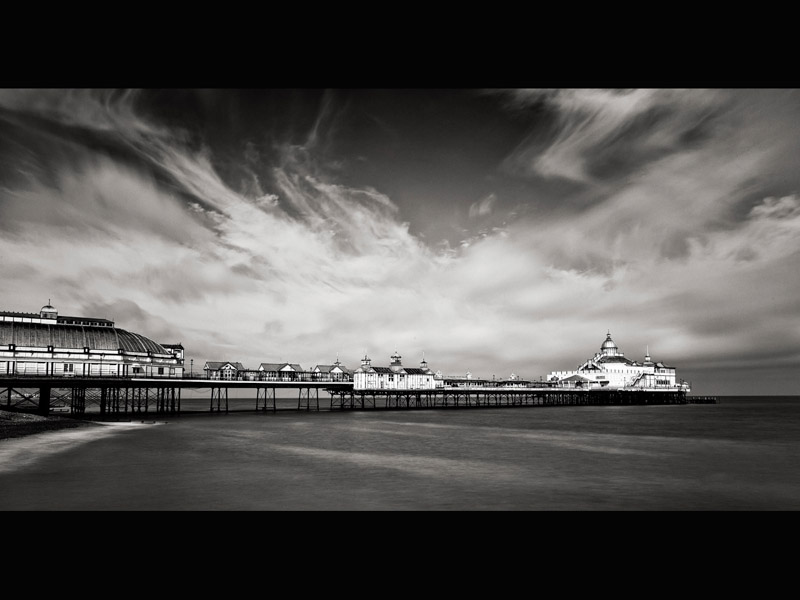 SKY OVER EASTBOURNE PIER by Allan Marshall