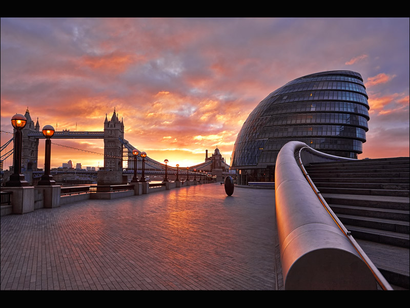 DAWN AT TOWER BRIDGE by Allan Marshall